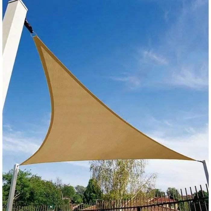 3 6 m sun shade triangle toile bache pour patio ya
