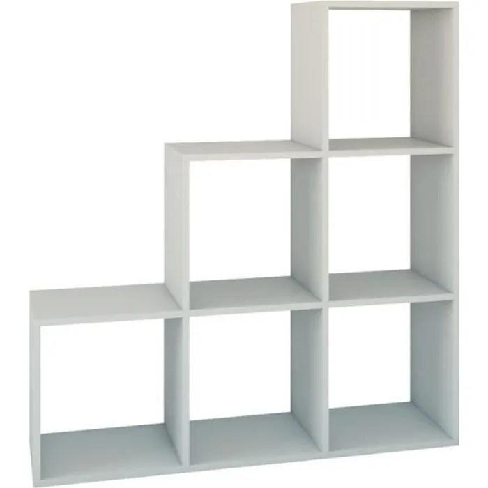 meuble 6 cubes en escalier