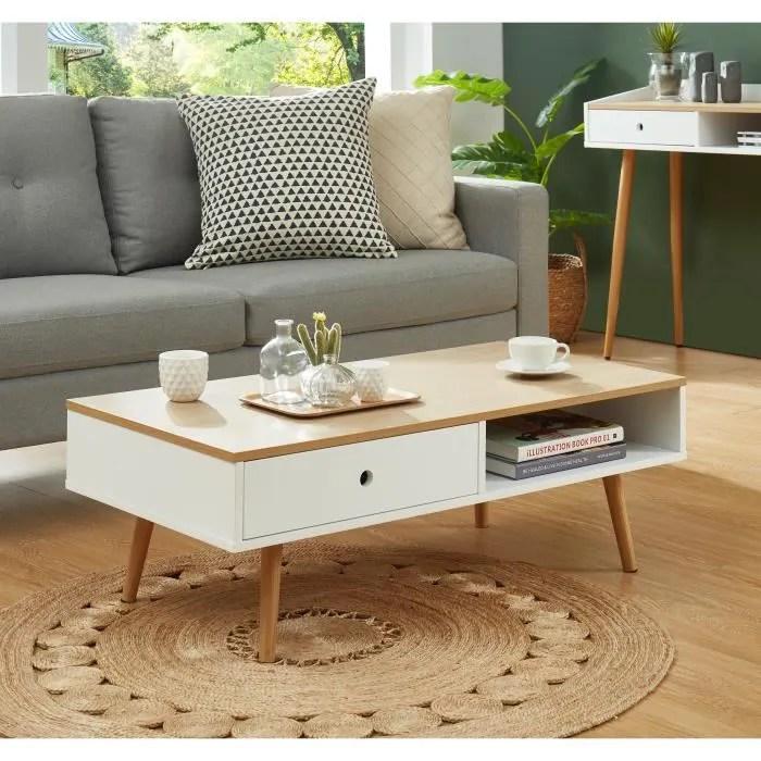 caldera table basse laque blanc mat et