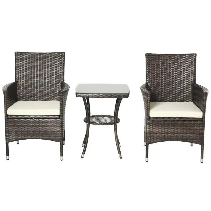 ensemble de salon de jardin fauteuils table basse