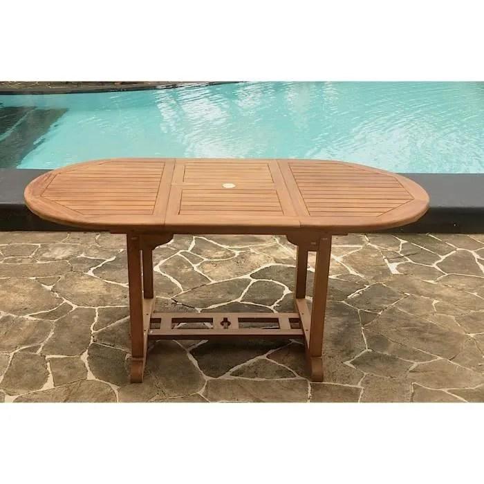 table ovale en teck huile 6 8 personnes