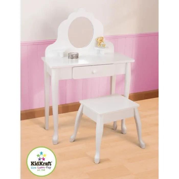 meuble coiffeuse et tabouret pour chambre de petite fille