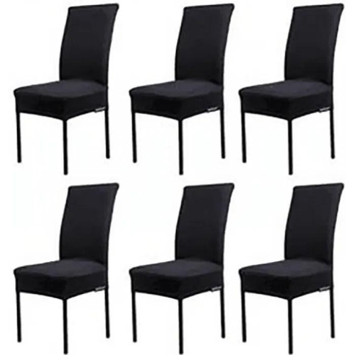 lot de 6 housses de chaises noir