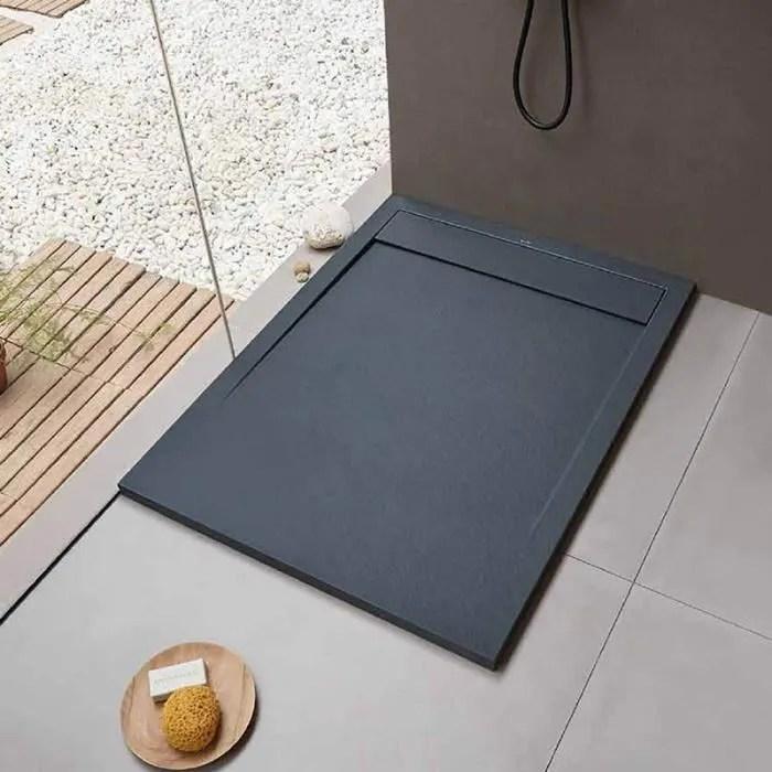 receveur de douche 120 x 80 cm clever anthracite