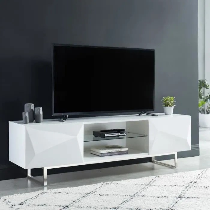 meuble tv miroir