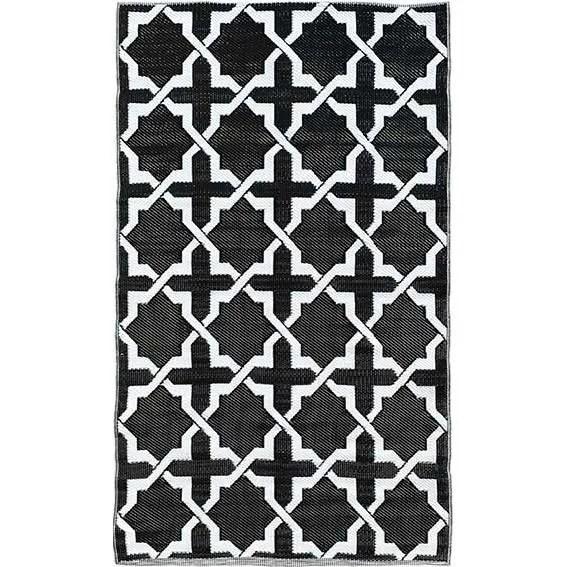 tapis tresse plastique