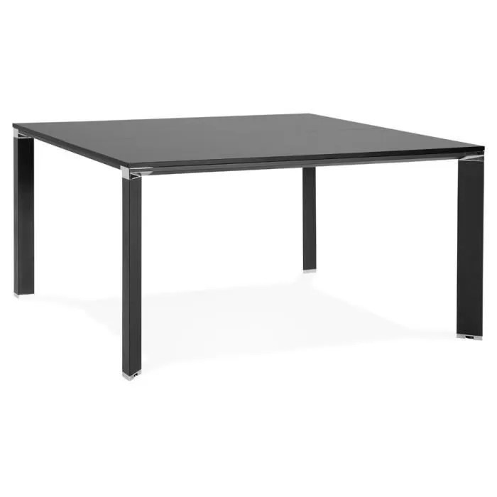 ho table de reunion bureau bench noir 140x140 cm
