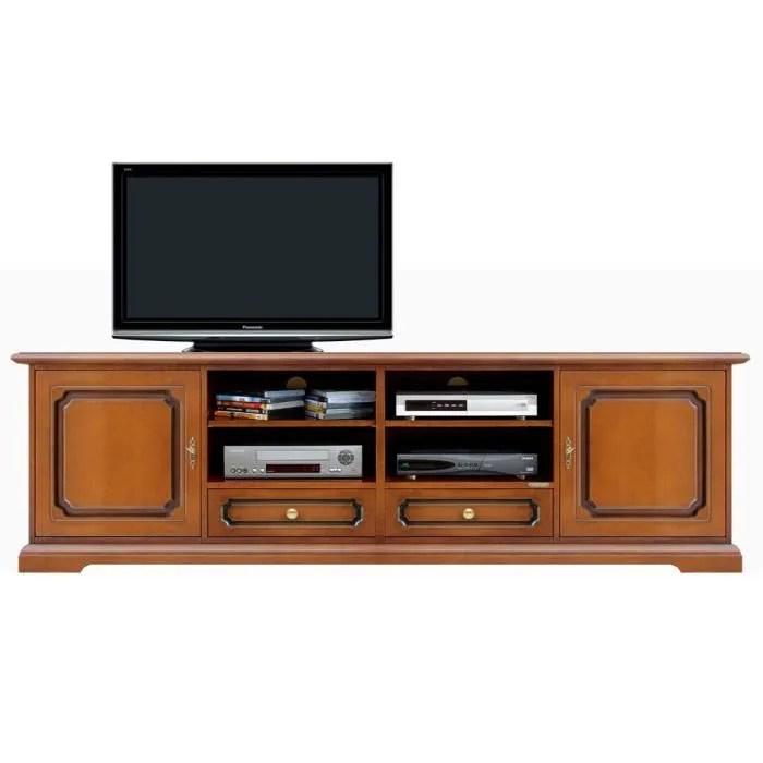 meuble tv banc tv 2 metres en bois