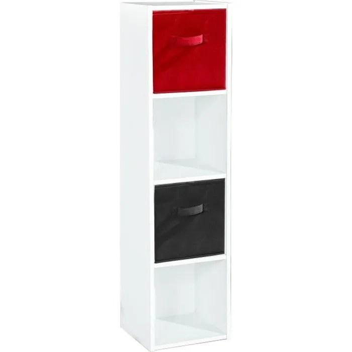 meuble 4 cases blanc achat vente