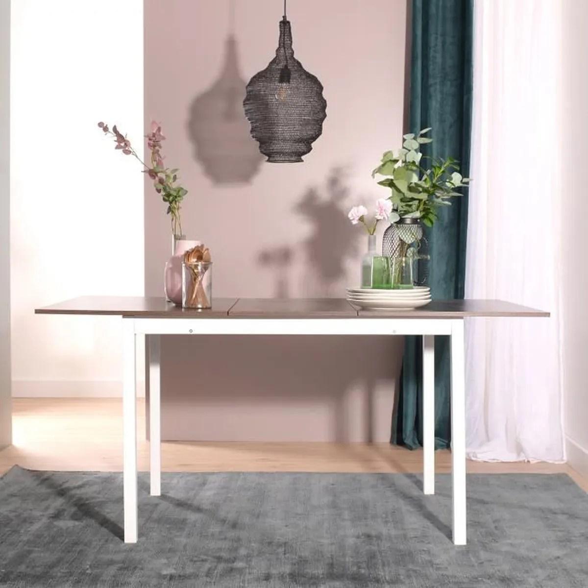 table rectangulaire avec rallonge