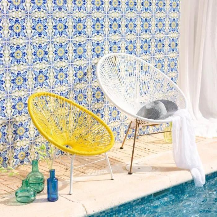 fauteuil enfant 3 pieds jaune acapulco