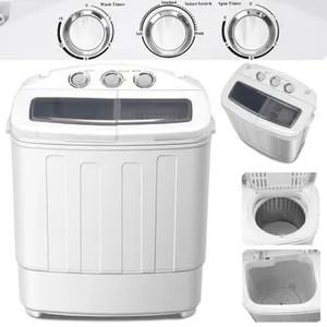 Tectake Mini Machine A Laver Et A Essorer Jusqu A 4 5 Kg Lave Linge Compact Bleu Blanc Achat Vente Lave Linge Cdiscount