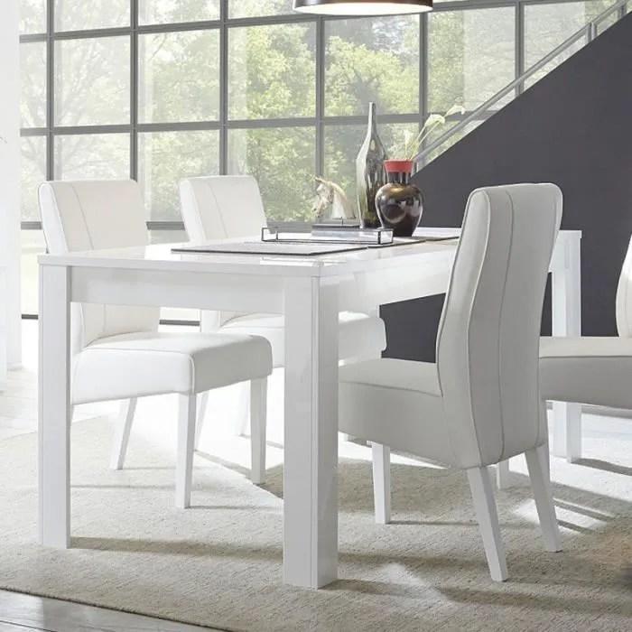 table salle a manger design blanc laque