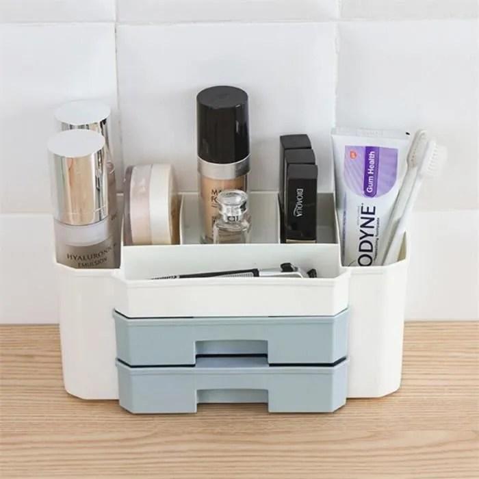 Tempsa Boite De Rangement Maquillage Organisateur Tiroir Cosmetique Bijoux Pour Maison Chambre Salle De Bain Bleu Achat Vente Boite De Rangement Boite De Rangement Maquillage Cdiscount