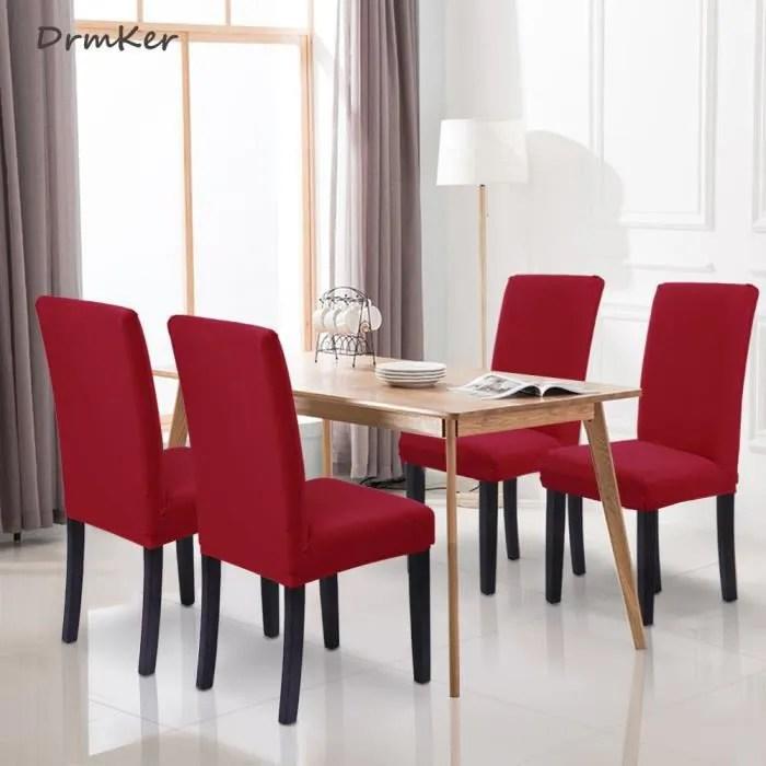 6 x housse de chaise stretch couverture de chaise extensible housse pour chaise de salle a manger