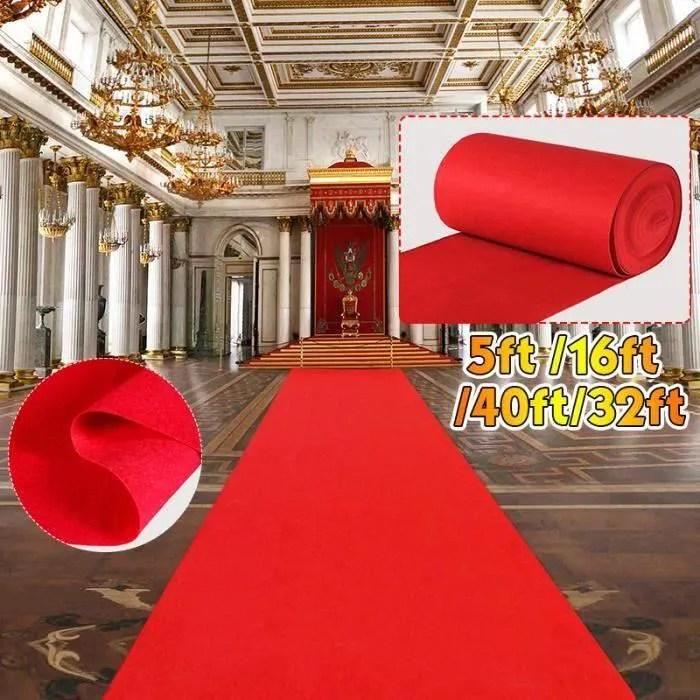 tapis rouge intisse decoration salle mariage cinem
