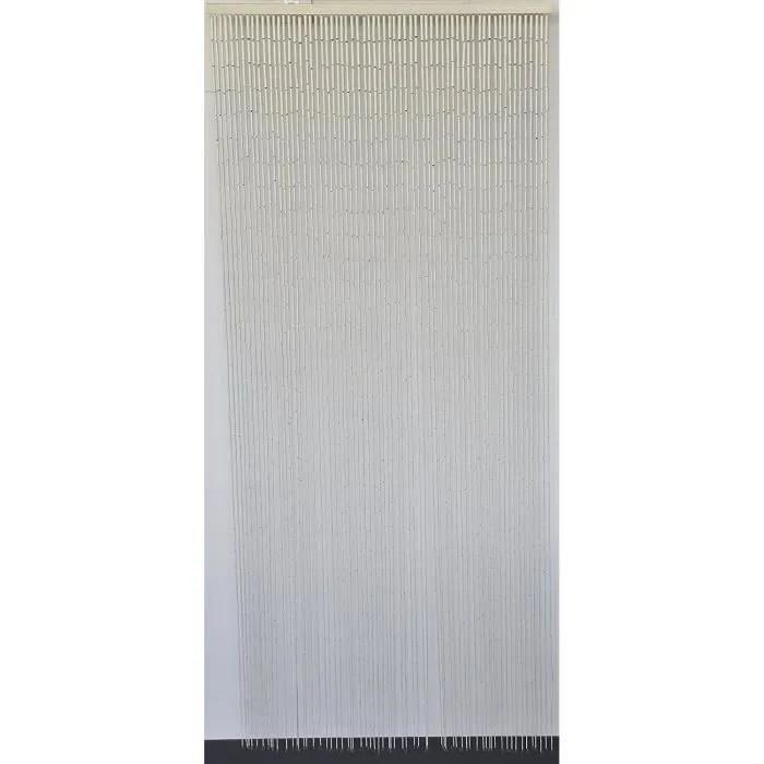 rideau de porte perles bambou interieur et exterieur porte d entree porte interieure porte fenetre 90x200cm n 1classique blanc