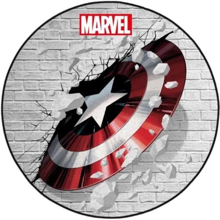 tapis de sol captain america marvel captain shie