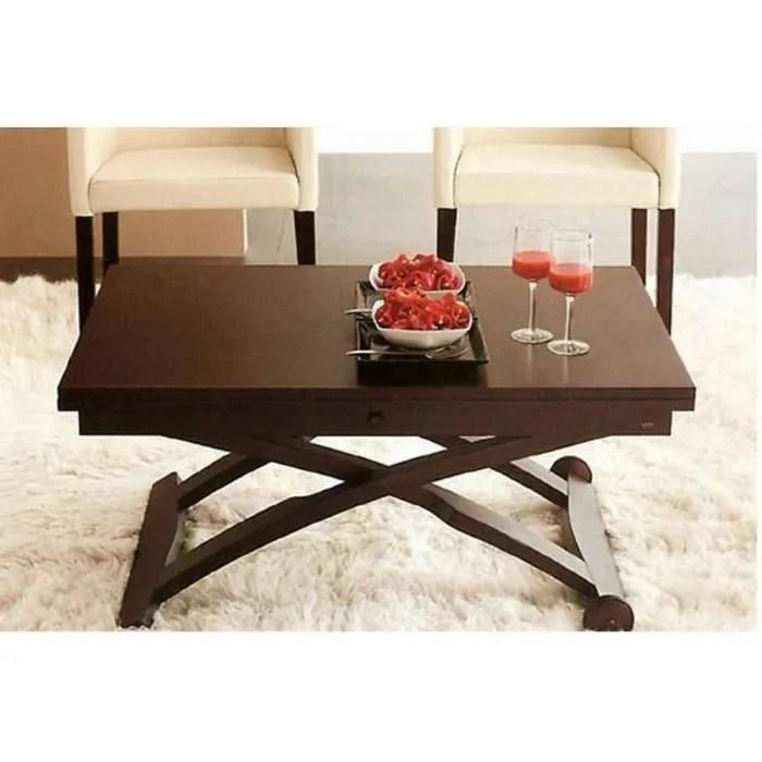 table basse relevable extensible italienne mascotte wenge marron bois inside75