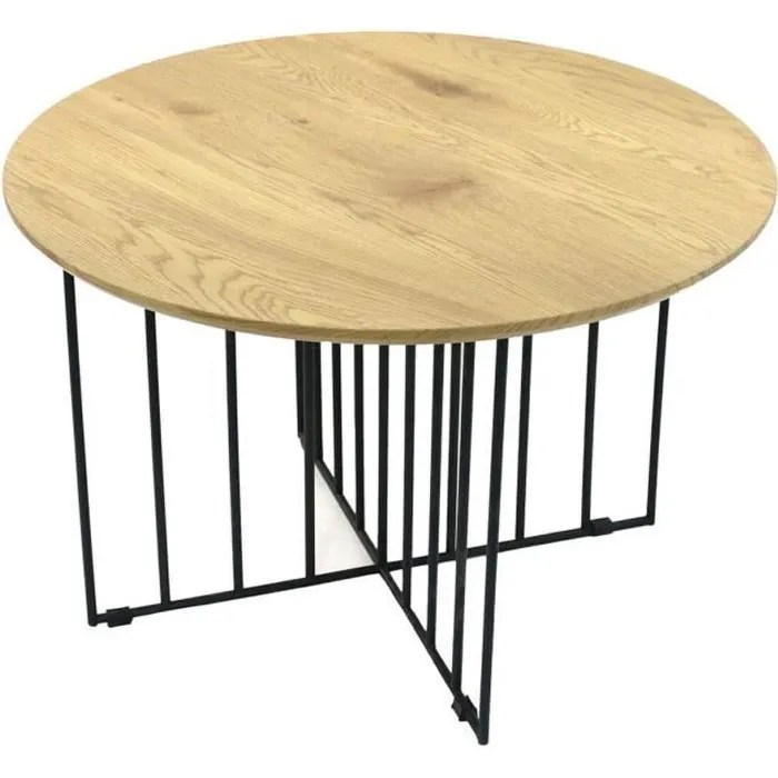table ronde pied metal