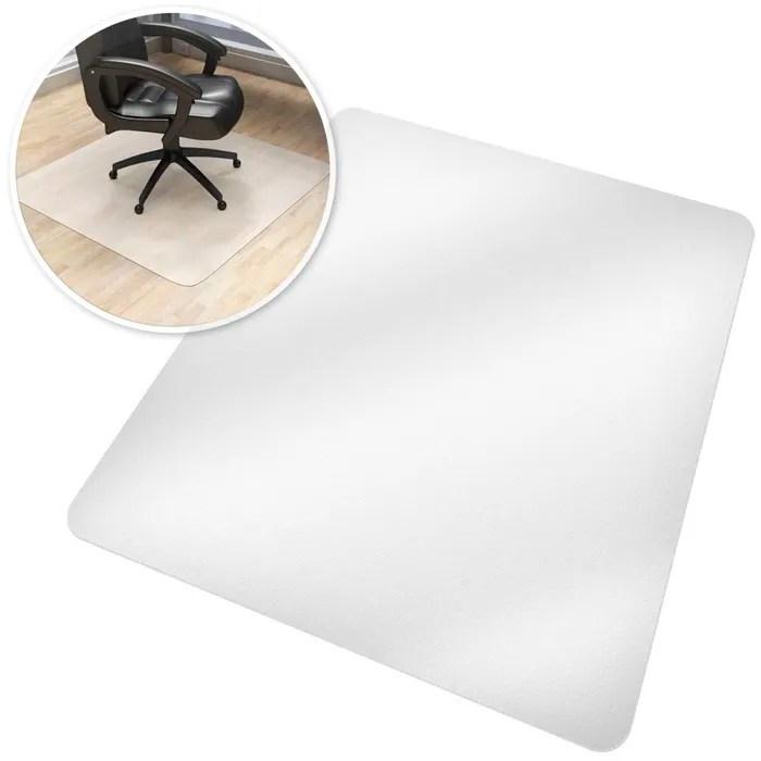 tectake tapis de bureau rectangulaire blanc semi t