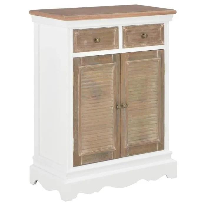 buffet contemporain commode meuble bas rangementblanc 60 x 30 x 80 cm bois massif