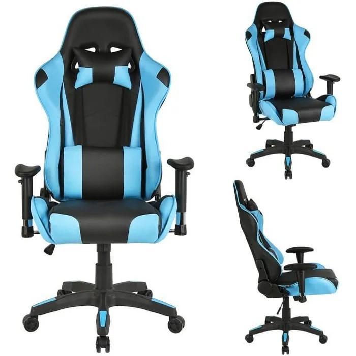 chaise de bureau pour ordinateur fauteuil pivotant et ergonomique siege a roulettes avec hauteur reglable