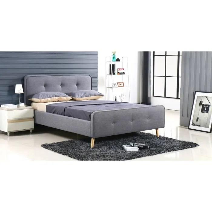 lit scandinave gris avec sommier 180x200 cm alcove designetsamaison