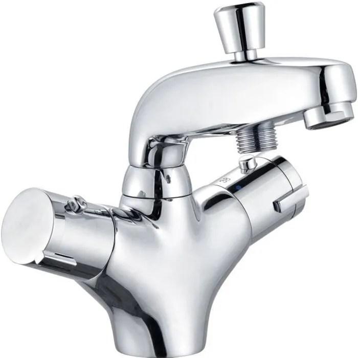 rousseau robinet mitigeur thermostatique baignoire