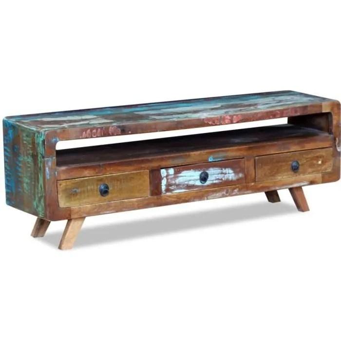 meuble tv 3 tiroirs industriel meuble vintage mu