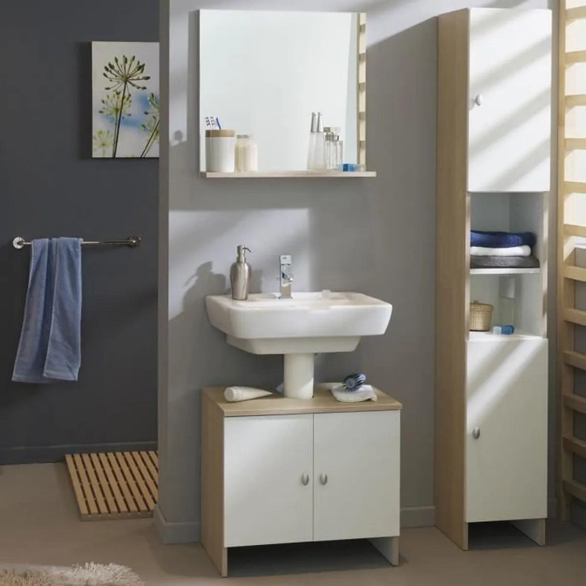 ensemble meuble sous lavabo colonne