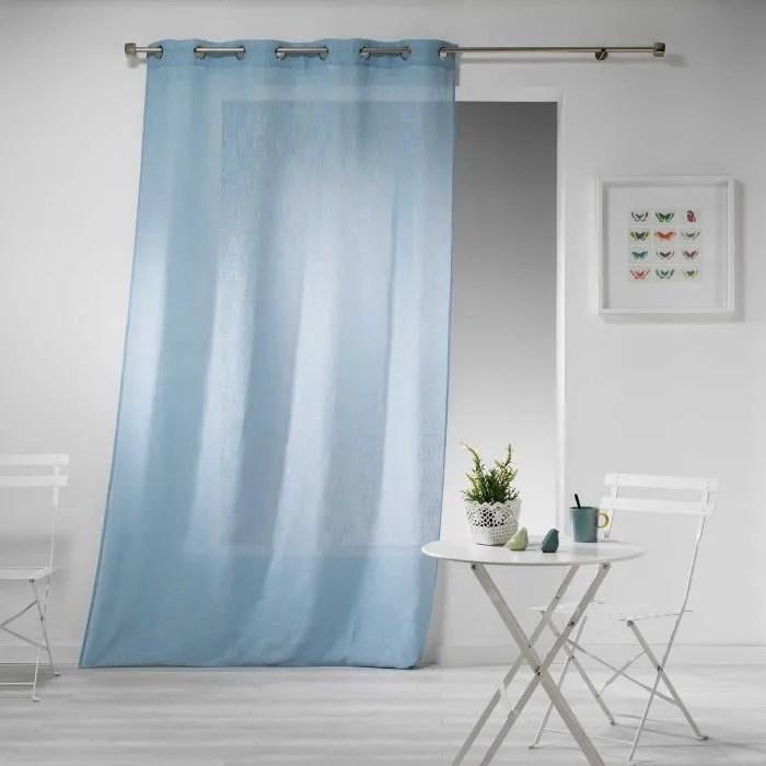 rideau effet lin haltonas bleu ciel 140x240cm