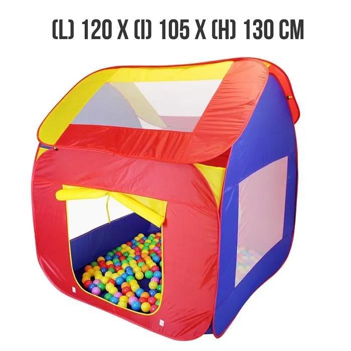 jeu enfants pliable 200 balles et sac