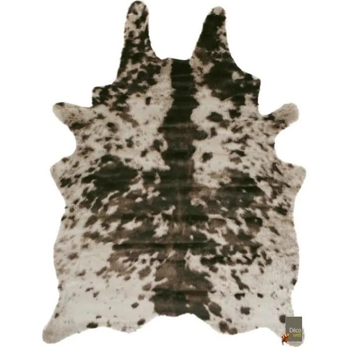 tapis peau de bete imitation vache normande br