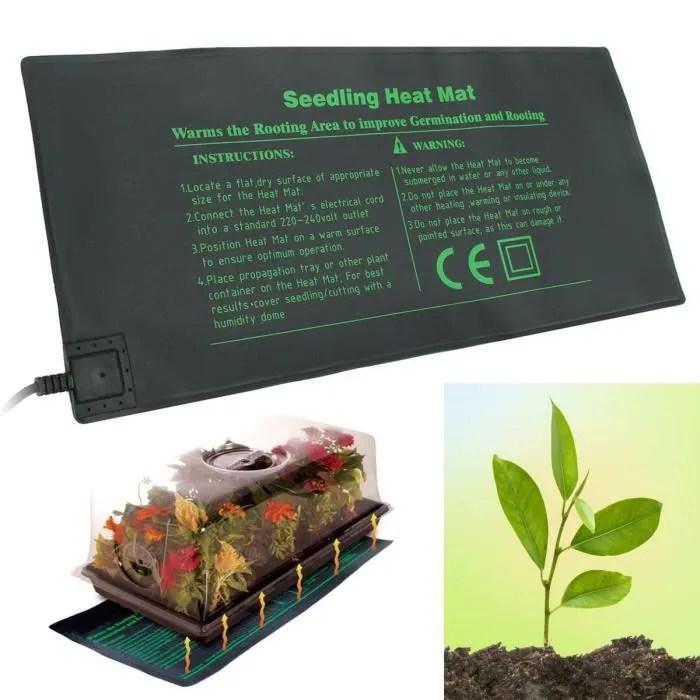 220v 24x52cm tapis chauffant pour semis germinatio