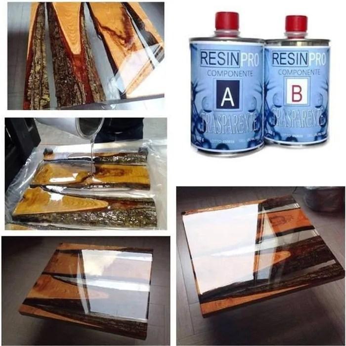 resine epoxy transparente effet eau pour model