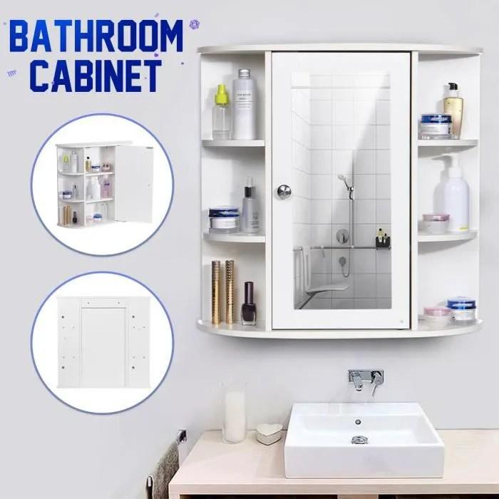 Armoire De Toilette Une Porte Avec Miroir Achat Vente Pas Cher