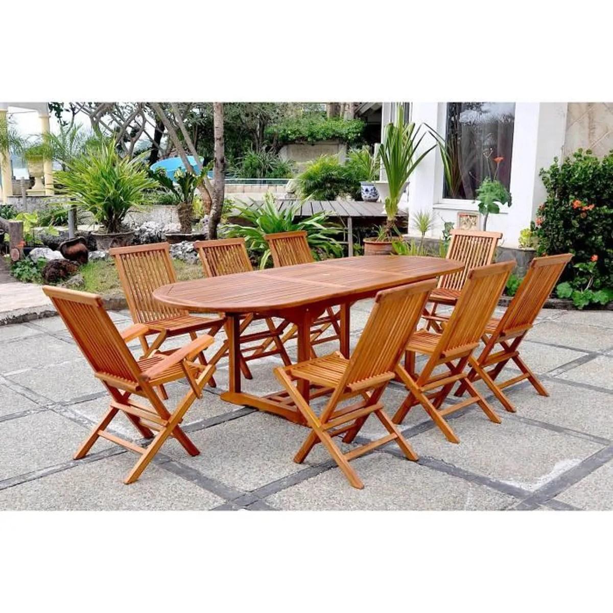 table ovale 6 chaises et 2 fauteuils