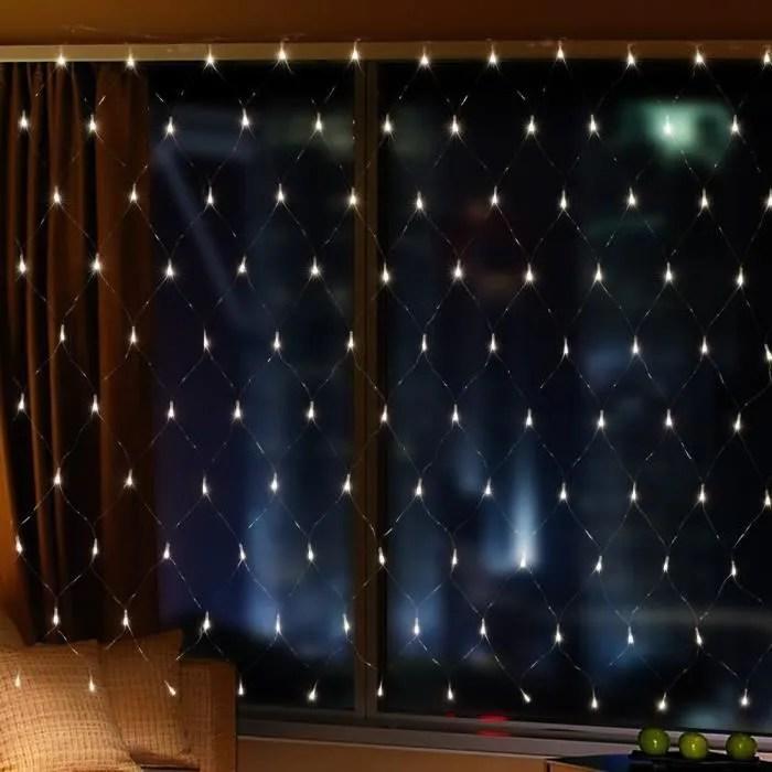 2m x 3m 200 leds guirlande lumineuses filet rideau