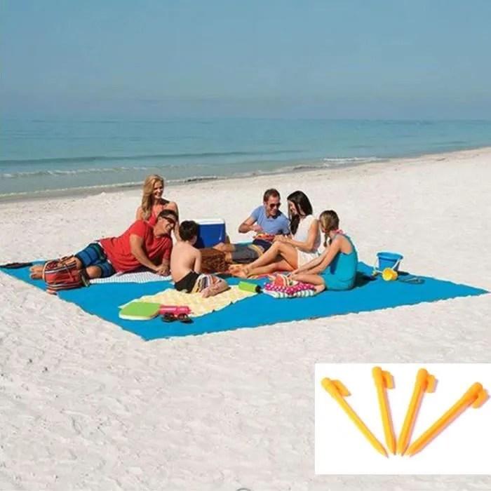 plage tapis anti sable bleu tapis de plage 200