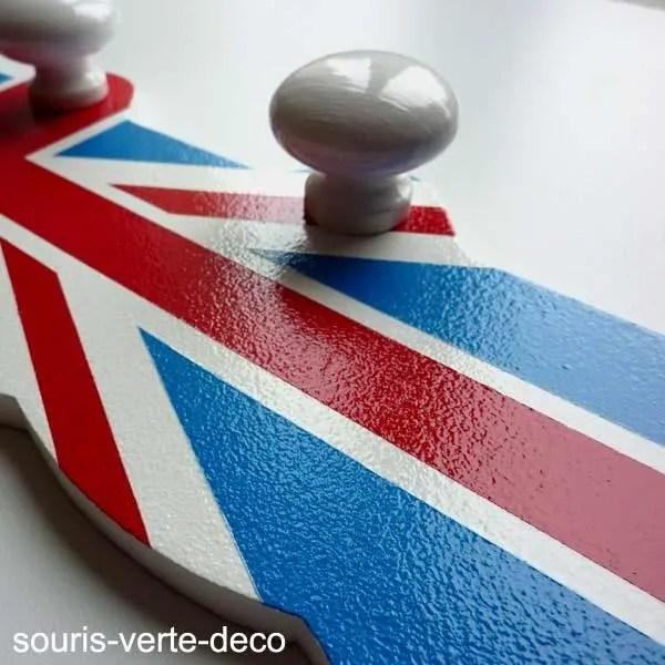 porte manteaux drapeau anglais 3