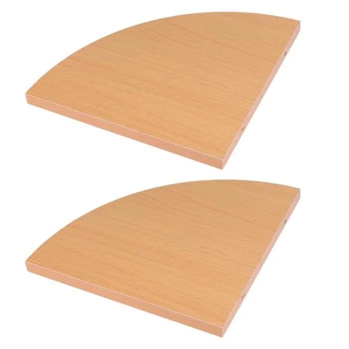 2pcs forme de ventilateur mur etagere d angle ensemble mural support de stockage de triangle pour la maison meuble etagere