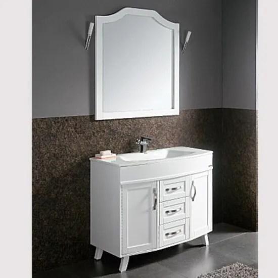 meuble de salle de bain ivoire avec son