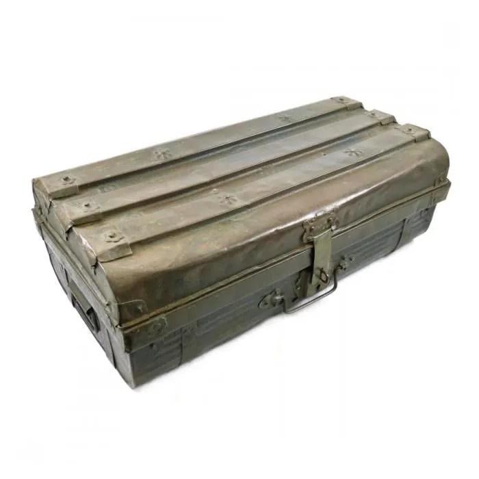 malle coffre metal