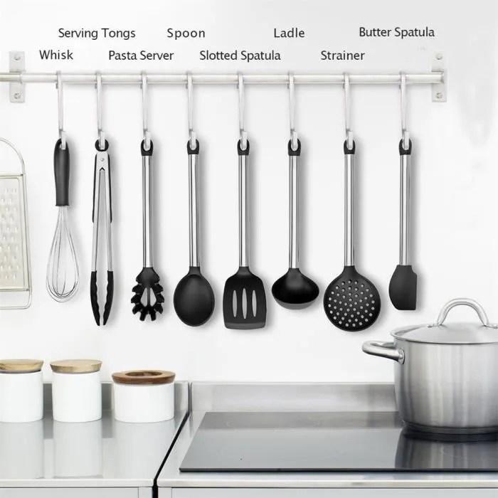 ustensiles de cuisine cuisine ensemble de 8 pieces haut de gamme de chaleur outils de cuisson resistant lost682