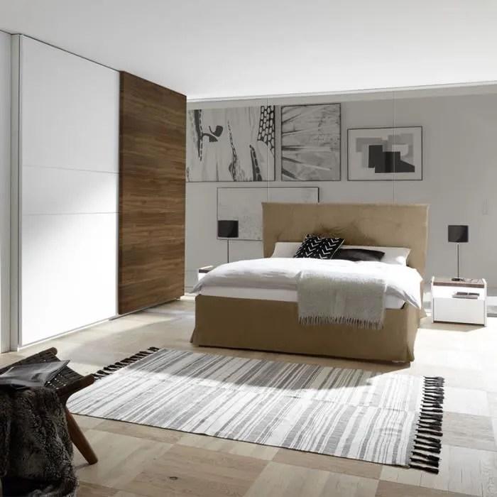 chambre adulte moderne blanc et couleur