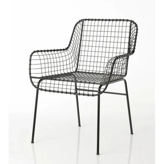 chaise noire en metal amadeus noir