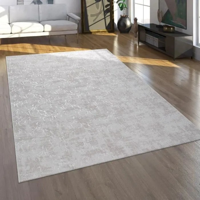 tapis tapis poils ras pour salon au look oriental