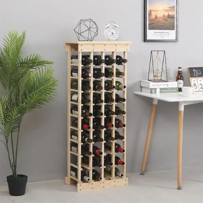 10 etagere pour 44 bouteilles etagere a vin casier a bouteille modulable range bouteilles en bois 46 5 x 27 5 x 113 cm
