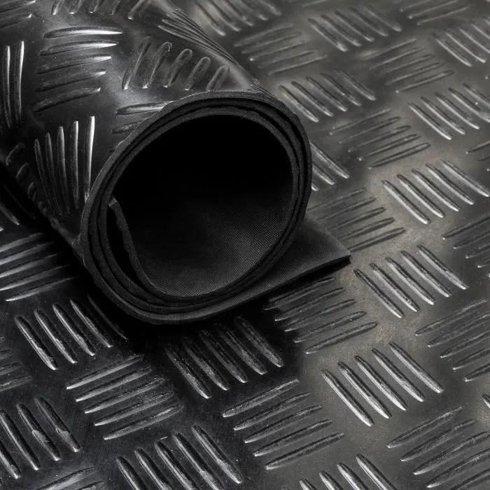 tapis caoutchouc larme type checker 3 mm largeur